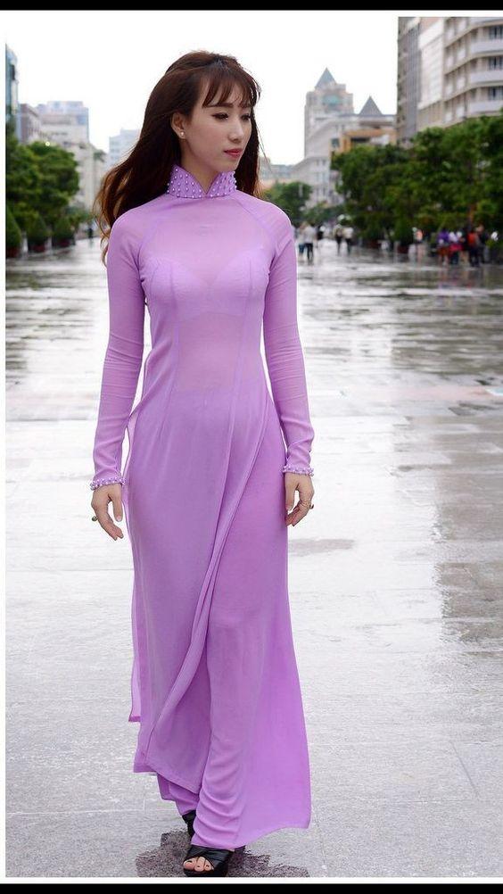 Hình ảnh Nữ Sinh Mặc áo Dài Siêu Mỏng Khiêu Gợi Cực Kích Thích